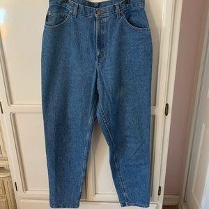 Blue high waisted mom jeans